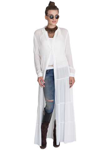 So Versatile White Kimono/ Dress - Gingerlining