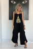 Black Cotton Harem Jumpsuit - Black/Princess (5525294284954)