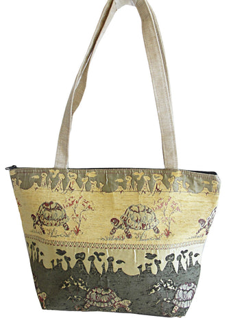 Turtles style Tote  - Olive Green - Gingerlining
