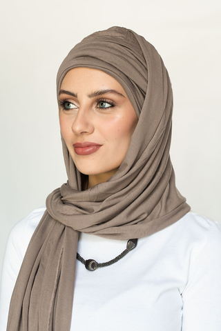 Scarfy Drape Turban - Light Mocha (5635881533594)