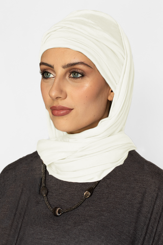 Scarfy Drape Turban- Off White