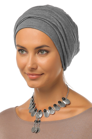 Simple Drape Turban - Grey