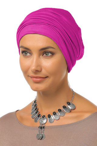 Simple Drape Turban - Hot Pink - Gingerlining (9968699217)