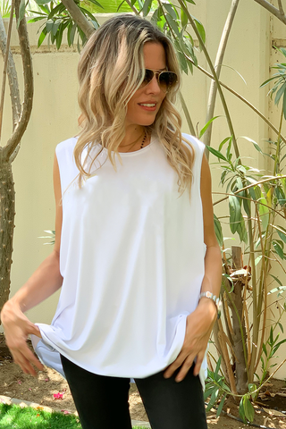 Sleeveless Tee - White (5783516840090)