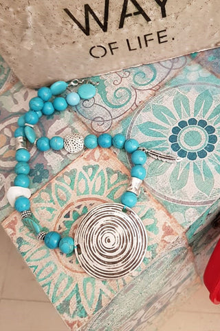 Spiral Blue Necklace