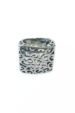 It's a square thing ring – 925 Egyptian sterling Silver - Gingerlining