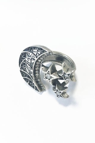 Stars & Moon Ring   – 925 Egyptian sterling Silver - Gingerlining