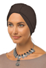 Simple Tab Turban - Dark Mocha - Gingerlining (9968709009)