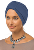 Simple Tab Turban - Denim Blue - Gingerlining