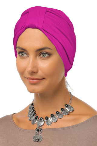 Simple Tab Turban - Hot Pink - Gingerlining (9968691089)