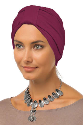 Simple Tab Turban - Wine - Gingerlining (9968687633)