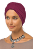 Simple Tab Turban - Wine - Gingerlining