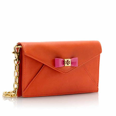 Tory Burch Bow Envelope Crossbody - Orange
