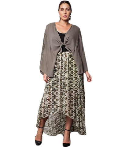 Flower Bomb High- Low Skirt- Olive - Gingerlining