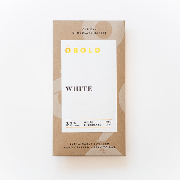BARRA CHOCOLATE 37% CACAO WHITE - OBOLO CHOCOLATE
