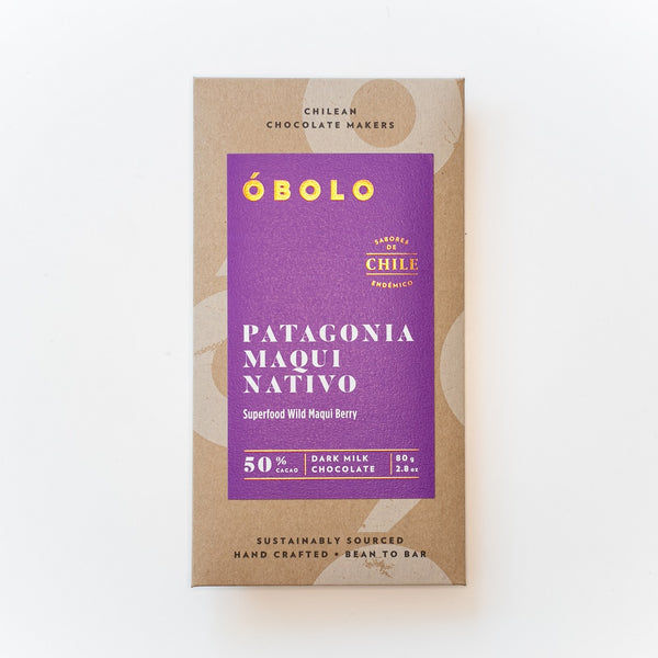 BARRA DE CHOCOLATE 50% CACAO PATAGONIA MAQUI NATIVO - OBOLO CHOCOLATE