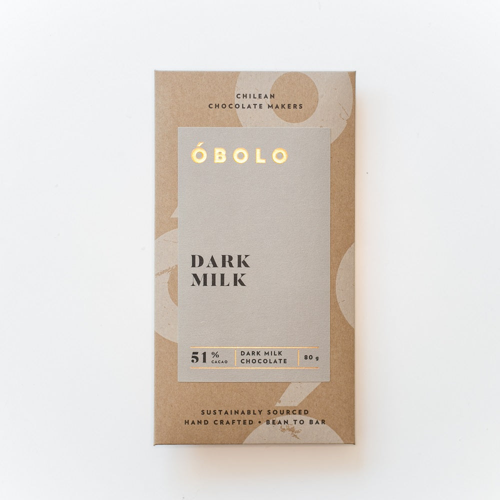 Dark Milk Chocolate - Barra Chocolate 51% Cacao 80 gr