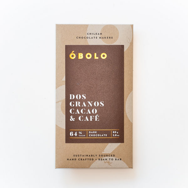 BARRA CHOCOLATE 64% CACAO DOS GRANOS CACAO & CAFE - OBOLO CHOCOLATE