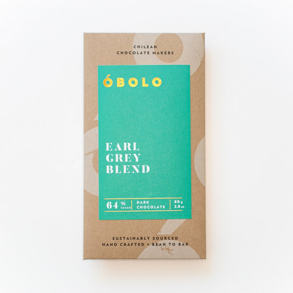 BARRA CHOCOLATE 64% CACAO EARL GREY BLEND - OBOLO CHOCOLATE