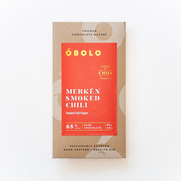 BARRA CHOCOLATE 65% MERKEN SMOKED CHILI - OBOLO CHOCOLATE