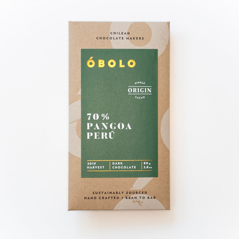 BARRA DE CHOCOLATE 70% CACAO PANGOA PERÚ - OBOLO CHOCOLATE