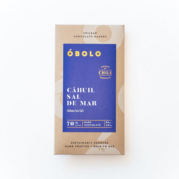 BARRA DE CHOCOLATE 70% CACAO CAHUIL SAL DE MAR - OBOLO CHOCOLATE