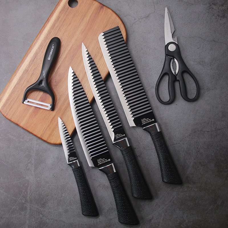 Stainless Steel Kitchen Knives Set Tools 6 PCS Forged Kitchen Knife