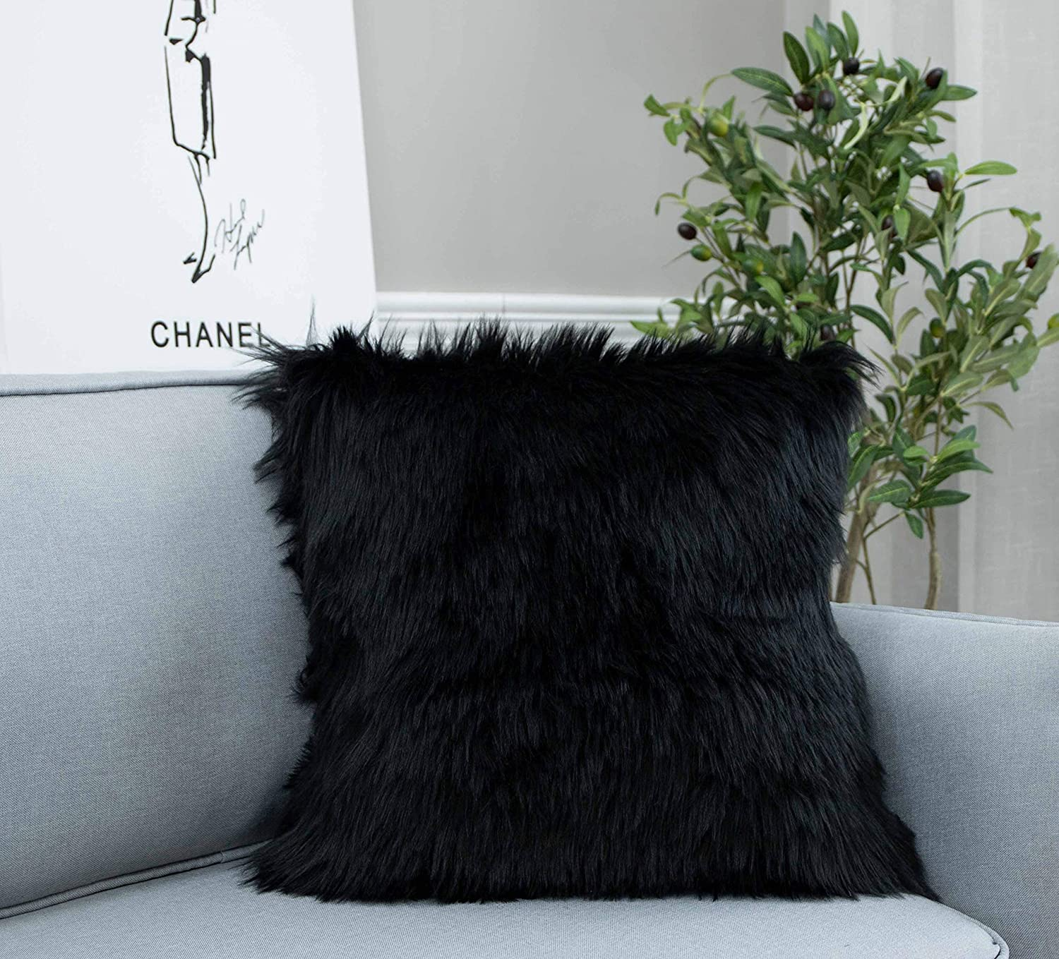 Luxury Series Rectangle Plush Pillow Case Cushion Cover for Couch