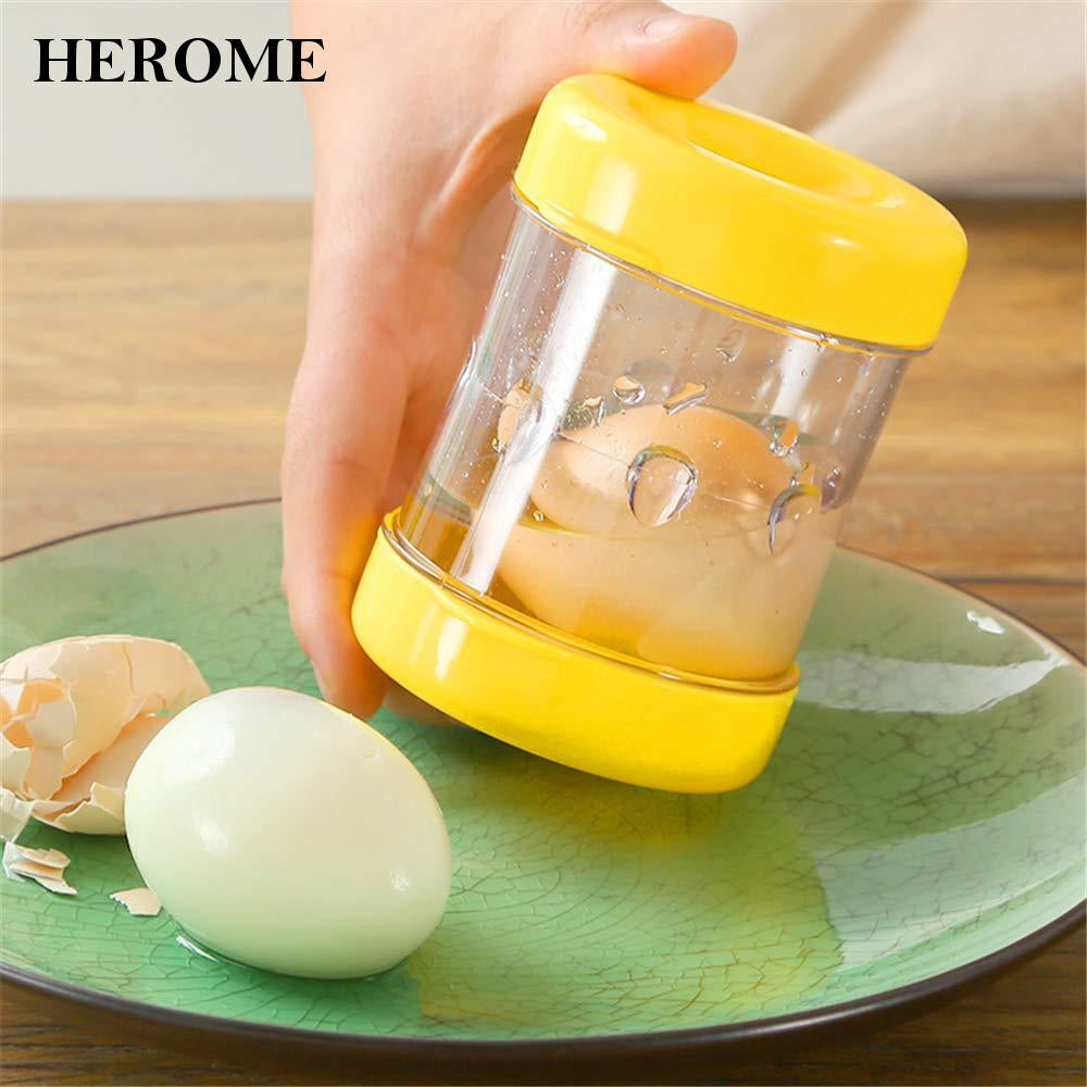 Boiled Egg Peeler Egg Sheller Plastic Durable Plastic For Kitchen Cute 【BUY 1 FREE 1】