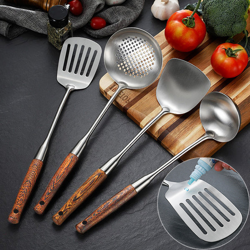 304 Stainless Steel wok spatula and ladle Set
