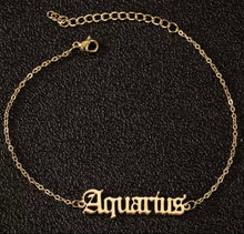 Load image into Gallery viewer, Zodiac Anklet