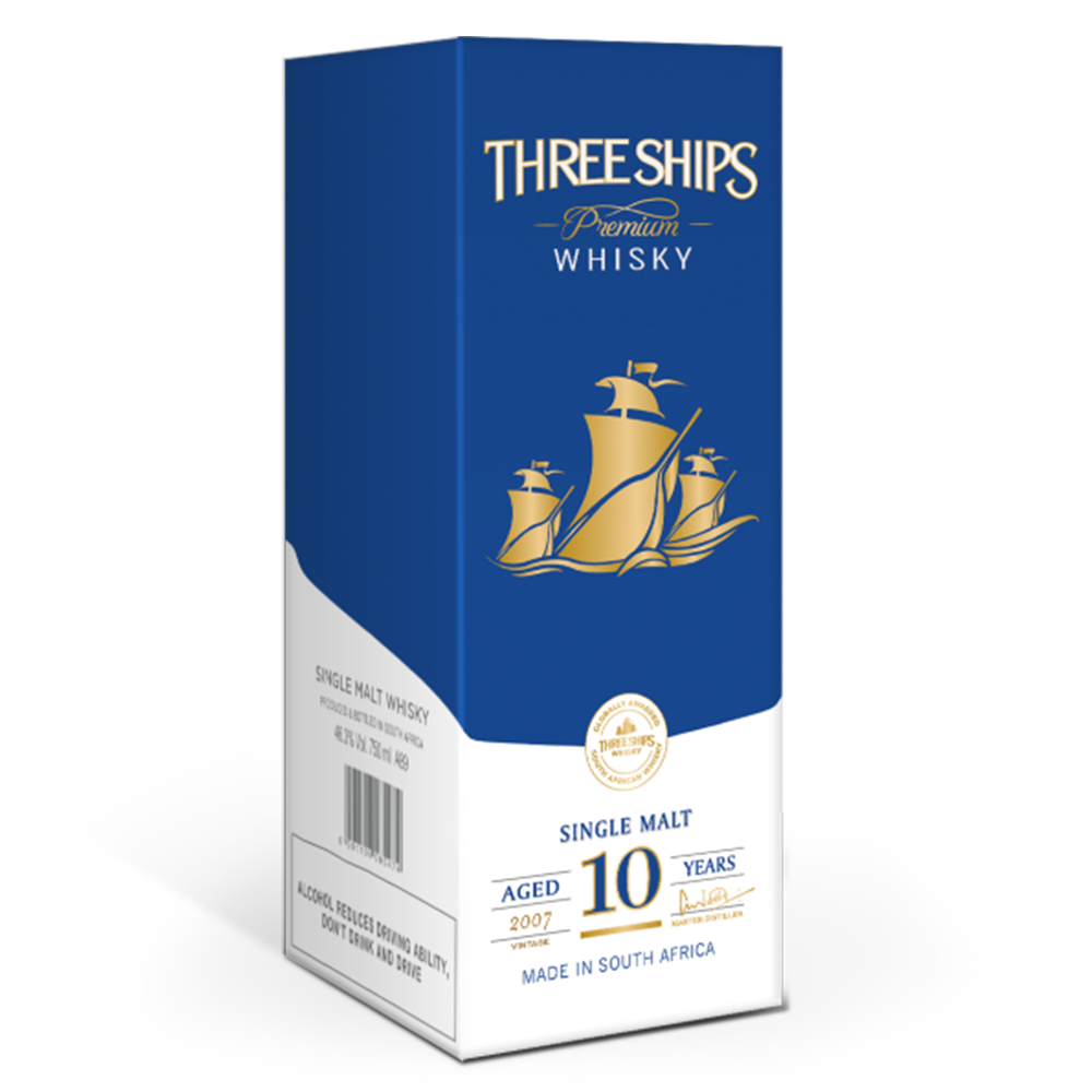 Three Ships Whisky 10 Year Old Single Malt Vintage 2007