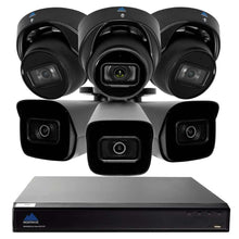 Load image into Gallery viewer, Montavue-4K Ultra HD IP NVR Surveillance System w/ 6 2K 5 Megapixel IP AI-SMD Cameras with Built-in Mic, 2TB HDD