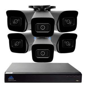 Montavue-8 Channel 4K AI NVR w/ 6 5MP AI Smart Motion Bullet Cameras with Built-in Mic, 2TB HDD