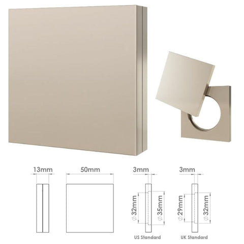 264 Square Plain Cylinder Cover