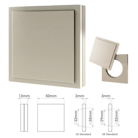 265 Square Edge Step Cylinder Cover
