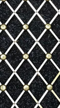 Decorative Brass Grille with Rosette - 670mm x 300mm