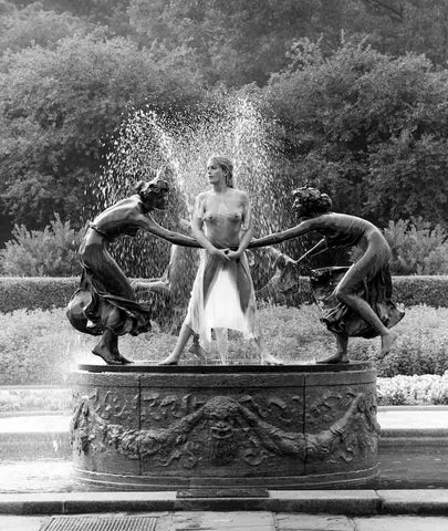 Central Park Fountain, New York, 1990, Patrick Lichfield