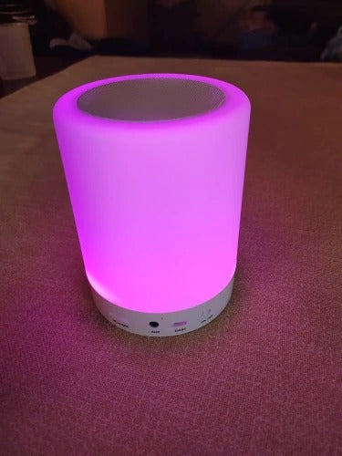 Touch-Control Bedside LED Lamp with Wireless Bluetooth Speaker & Alarm Clock