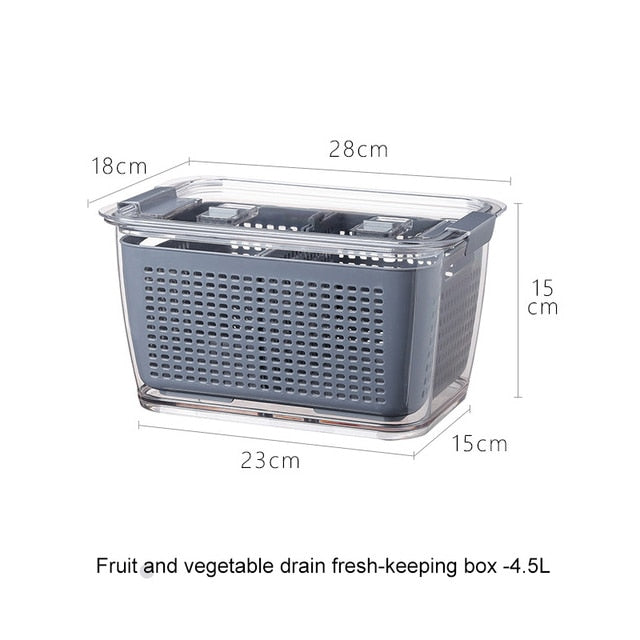 Fresh Veg & Fruit Cleaning/Storage Containers