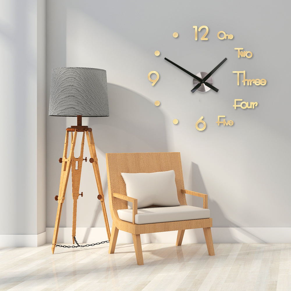 DIY 3D Wall Silent Clock