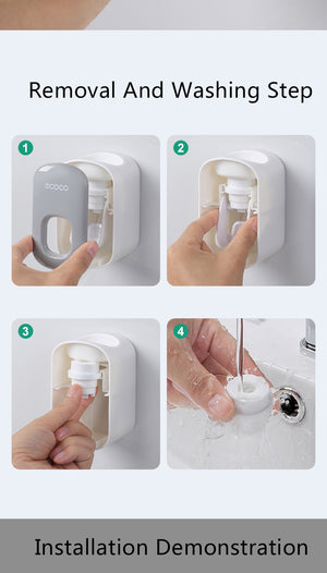 Wall Mount Automatic Toothpaste Dispenser
