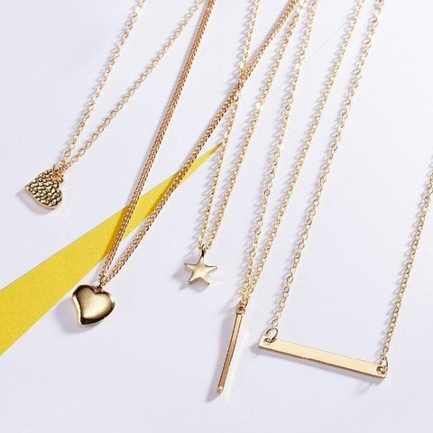Collection set 2 on wish card necklaces | Lovanzo