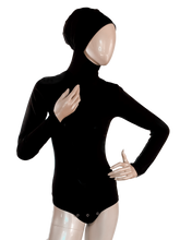 Load image into Gallery viewer, AMIRABODY HIJAB BODYSUIT FULL COVERAGE - BLACK