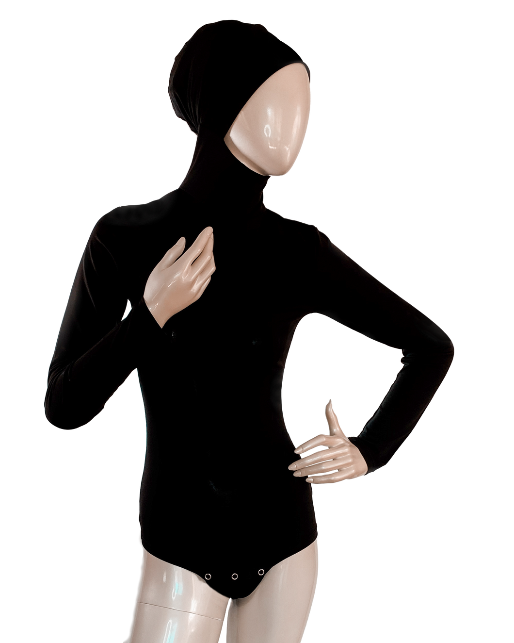 AMIRABODY HIJAB BODYSUIT FULL COVERAGE - BLACK