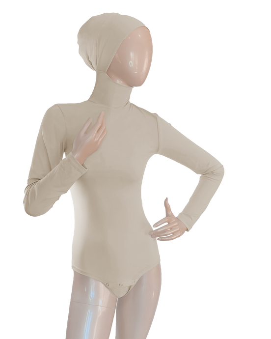 AMIRABODY HIJAB BODYSUIT FULL COVERAGE - NUDE
