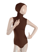 Load image into Gallery viewer, AMIRABODY HIJAB BODYSUIT SLEEVELESS - CHOCOLATE