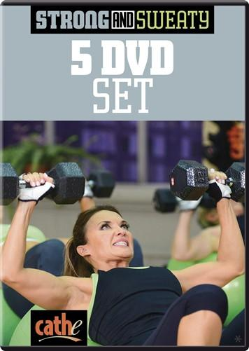 Cathe Friedrich's Strong & Sweaty: 5 DVD Bundle - Collage Video