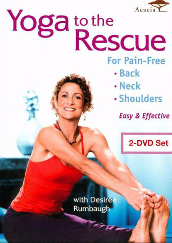 Yoga to the Rescue for Pain-Free Back, Neck & Shoulders (2-Pack)