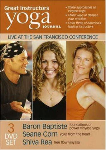 Yoga Journal: Great Instructors 3 Pk (Baron Baptiste, Shiva Rea, Seane Corn)